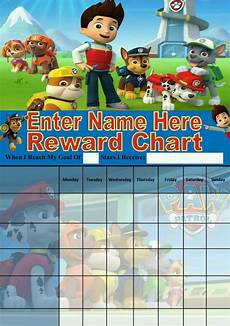 Free Printable Potty Chart Paw Patrol Personalised Paw Patrol Reward Chart Potty Training