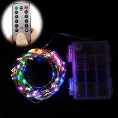 Battery Operated Led Lights With Remote 10m 6m 100 60 Leds Remote Control 8 Modes Battery
