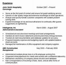 Resume Examples Experience Resume Experience Sample