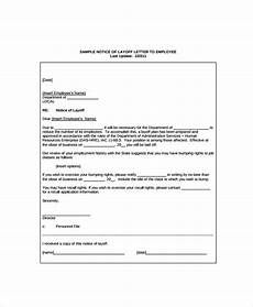 Layoff Letter Free Are Employers Required To Give Notice Of Layoff