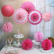 pack of 9 pink paper crafts tissue paper honeycomb