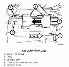 2003 Dodge Caravan Cabin Air Filter Where The Cabin Air