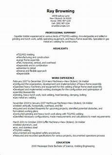Resume For Welding Welder Resume Template Best Design Amp Tips Myperfectresume