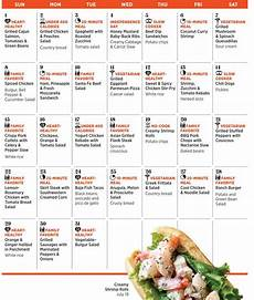 How To Meal Plan For A Month July 2012 Monthly Meal Plans With Recipes And Shopping