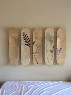 Skateboard Headboard Headboard From Unfinished Skateboards And Vinyl