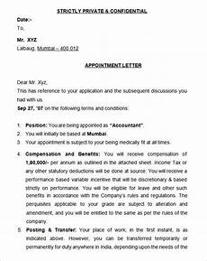 Appointment Letter For Job Format 25 Appointment Letter Templates Free Sample Example