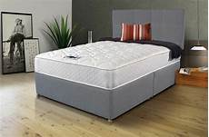 new grey memory foam divan bed set with free matching