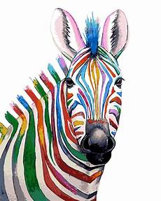Colorful Zebra Design Abstract Pony Colorful Zebra Painting By Numbers Natural