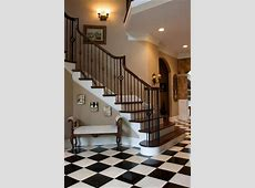 This would be my Dream Staircase w/ The Black & White Tile Hallway that would run all the way