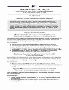 Chief Financial Officer Resume Chief Financial Officer Quot After Quot Chief Financial Officer