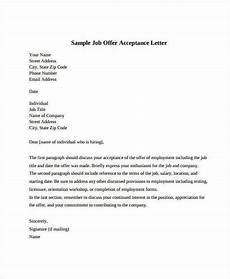 How To Write Job Acceptance Letter Job Offer Acceptance Letter 8 Free Pdf Documents