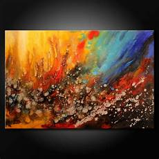 Acrylic Abstract Painting Modern Acrylic Abstract Painting Original Fine Art Colorful