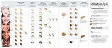 Dermablend Cosmetics Shade And Match Master Chart