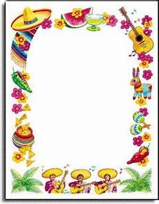 Fiesta Border Template Mexican Food Clipart Borders Clip Art Borders Mexican