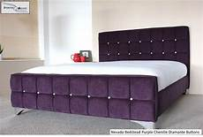 nevada bed frame upholstered chenille all colours sizes