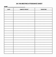 Template For Sign In Sheet Attendance Meeting Sign In Sheet Template Business