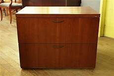 kimball cetra medium cherry 2 drawer wood lateral file