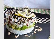 Homemade Sushi Stacks   WonkyWonderful