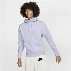 Light Purple Hoodie Mens Nike Sportswear Club Fleece Men S Full Zip Hoodie In