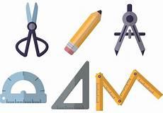 Architecture Equipment Flat Architecture Tools Vectors Download Free Vector Art