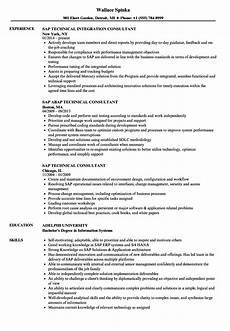 Sap Consultant Resume Sap Technical Consultant Resume Samples Velvet Jobs