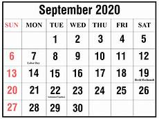Calendar Template 2020 September Free Printable Yearly Calendar 2020 Template Pdf And Word