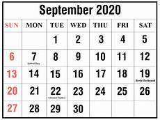 Calendar 2020 September Printable Free Printable Yearly Calendar 2020 Template Pdf And Word