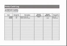 Petty Cash Template Petty Cash Log Template For Excel Word Amp Excel Templates