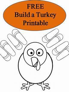 Turkey Printable Template Free Printable Build A Turkey Booklet