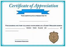 Example Of Certificate Of Appreciation For Guest Speaker Sample Certification Of Appreciation For Guest Speaker 2