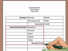 Create An Income Statement How To Write An Income Statement With Pictures Wikihow