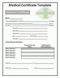 Medical Certificate Templates 3 Medical Certificate Templates Free Word Templates