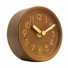 home decor clocks small soild wooden silent clock desk clock for home decor