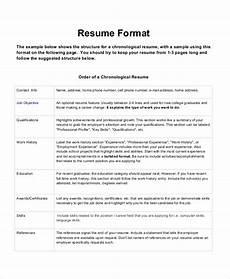 Formet Resume Download Resume Formats Amp Pdf Templates