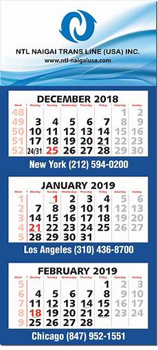 3 Month Calendar 2020 2020 Three Month Four Panel Calendar Calendar Company