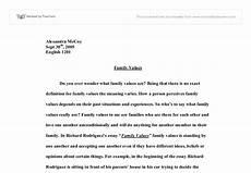 Essay Family Values Family Values Gcse Health And Social Care Marked By