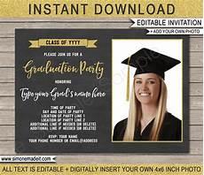 Graduation Party Invite Template Graduation Photo Invitation Template Graduation Party Invite