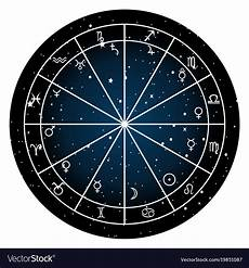 Zodiac Sign Birth Chart Astrology Zodiac With Natal Chart Zodiac Signs Vector Image