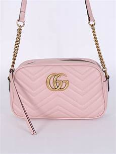 Bag Light Pink Gucci Gg Marmont Small Leather Matelass 233 Shoulder Bag