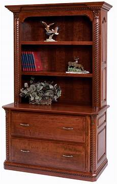lateral file cabinet with bookshelf