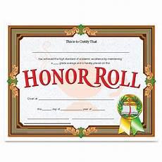 Honor Roll Certificate Templates Flipside Va612 Honor Roll Certificate 11 Quot X 8 50 Quot Laser
