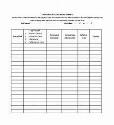 Sales Call List Template Free 13 Sample Call Sheet Templates In Ms Word Pdf