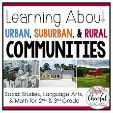 Urban Suburban Rural Urban Suburban And Rural Communities With Powerpoint By