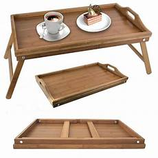 bamboo folding breakfast tray bed wood table
