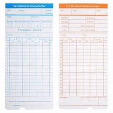 Time Card Tracker 200x Monthly Time Clock Cards Timecard For Employee