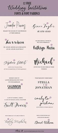 Elegant Wedding Fonts Wedding Invitation Font Pairing Guide With Free Killer