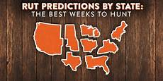 Deer Chart 2018 Data Driven State By State Rut Predictions For 2018