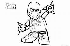 lego ninjago coloring pages zane lineart free printable