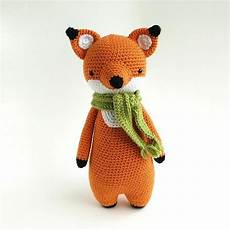 fox with scarf crochet amigurumi pattern crochet pattern