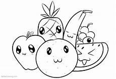 food coloring pages fruits free printable